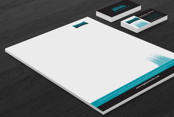 diseño del logotipo, papelería, los elementos de comunicación externa e interna